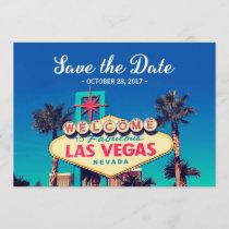 Vintage Las Vegas Photo - Save the Date Wedding