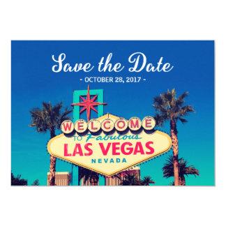 Vintage Las Vegas Photo - Save the Date Wedding Card