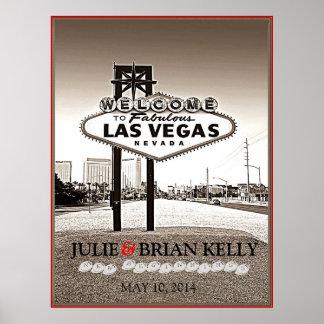 Vintage Las Vegas que casa el poster del libro de