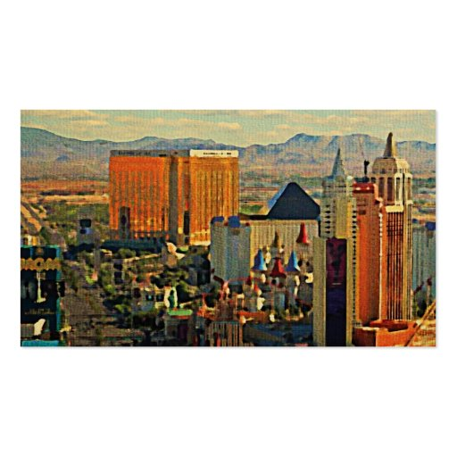 Vintage Las Vegas Skyline Double-Sided Standard Business Cards (Pack Of 100)