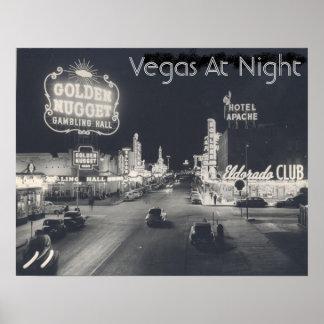 Vintage Las Vegas Strip Poster