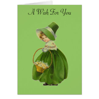 Vintage Lass St. Patrick's Day Greeting Card
