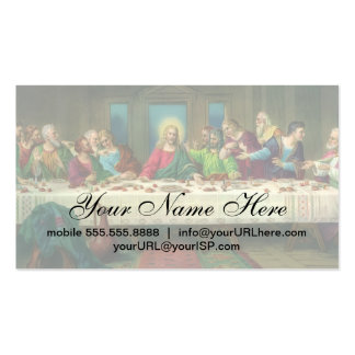 Vintage Last Supper with Jesus Christ and Apostles Pack Of Standard Business Cards