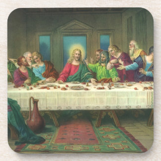 Vintage Last Supper with Jesus Christ and Apostles Coasters