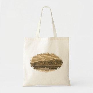 Vintage Late 1800's View of Ogden, Utah Budget Tote Bag