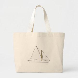 Vintage Lateen Rig Sailboat (Nova Scotia) Jumbo Tote Bag