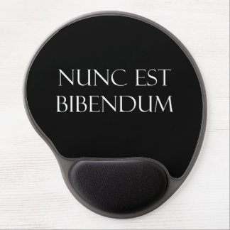 Vintage Latin Nunc Est Bibendum Drinking Quote Gel Mouse Pad