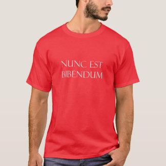 Vintage Latin Nunc Est Bibendum Drinking Quote T-Shirt
