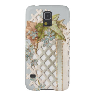 Vintage Lattice Forget-Me-Nots Case For Galaxy S5