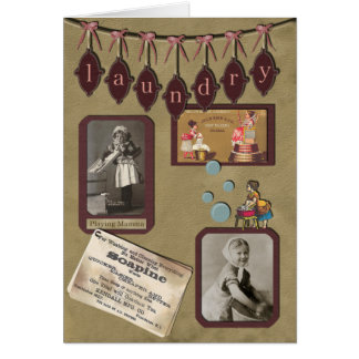 Vintage Laundry Day Greeting Card
