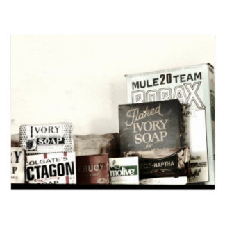 Vintage Laundry Soaps & Washboards Postcard