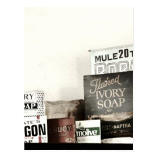 Vintage Laundry Soaps & Washboards Postcard