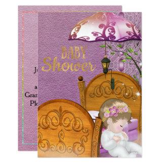 Vintage Lavender Baby Shower Invitation