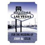 Vintage Lavender Blue Las Vegas Wedding Invites Personalized Invitation
