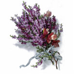 Vintage Lavender Bouquet Cut Out