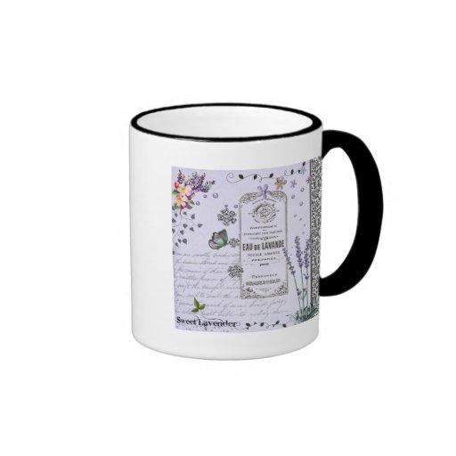 Vintage Lavender Collage Coffee Mug