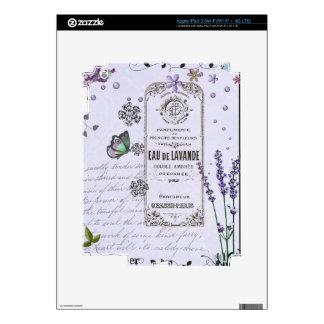 Vintage Lavender Collage iPad 3 Skin