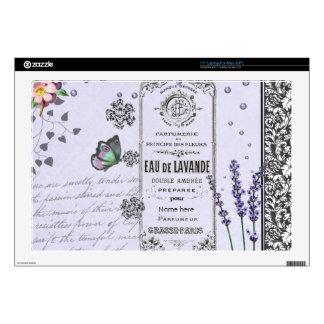 Vintage Lavender Collage Skin For Laptop