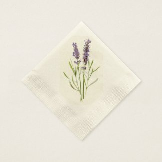 Vintage lavender disposable napkin