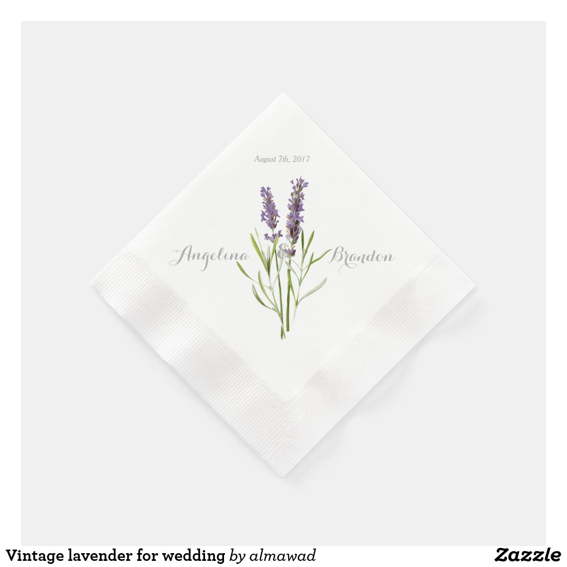 Vintage lavender for wedding paper napkin