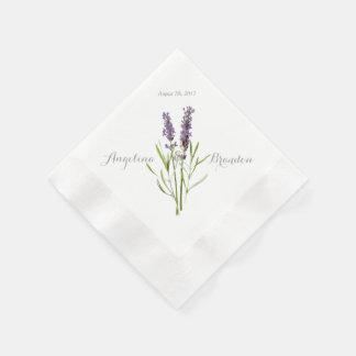Vintage lavender for wedding paper napkin