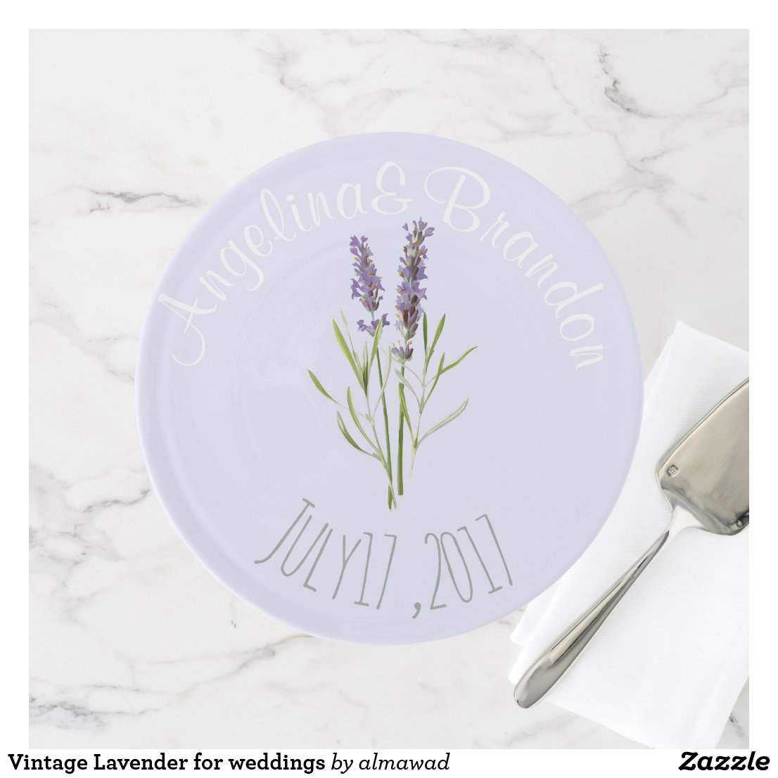 Vintage Lavender for weddings Cake Stand
