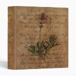 Vintage Lavender on Distressed Writing Paper Binder