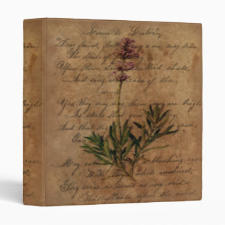 Vintage Lavender on Distressed Writing Paper Binder