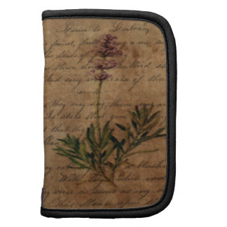 Vintage Lavender on Distressed Writing Paper Planners
