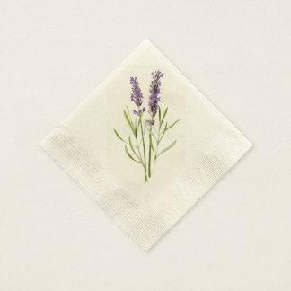 Vintage lavender paper napkin