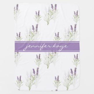 Vintage Lavender Personalized Baby Blanket