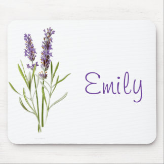 Vintage Lavender plant customizable mousepad