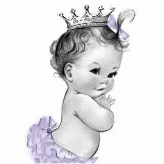 Vintage Lavender Princess Baby Girl Shower Statuette