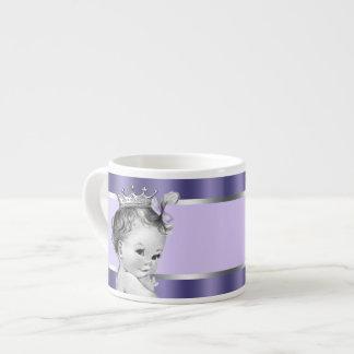 Vintage Lavender Purple Princess Baby Cups Espresso Mug