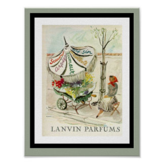Vintage Lavin Parfums Advertisement Poster