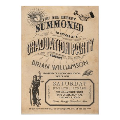 dark maroongold law schoollegal graduation card zazzlecom - Law School Graduation Invitations
