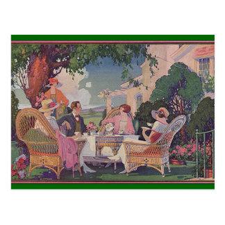 Vintage Lawn Gathering Invite Postcard