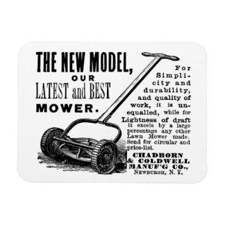 Vintage lawn mower advert magnet