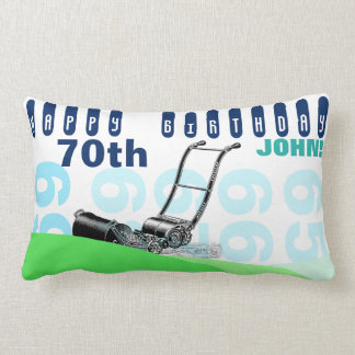 Vintage Lawnmower 70th Birthday Pillow