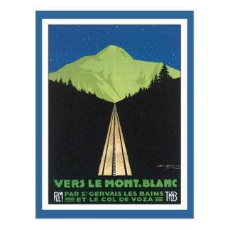 Vintage Le Mont Blanc France Postcard