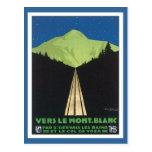 Vintage Le Mont Blanc Francia Tarjeta Postal