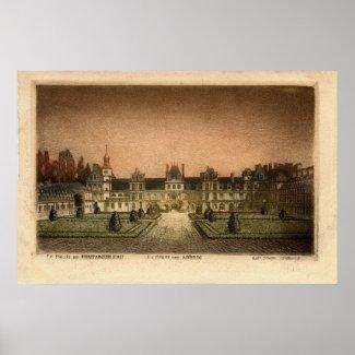Vintage Le Palais De FONTAINEBLEAU POSTER