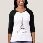 vintage le París Camiseta