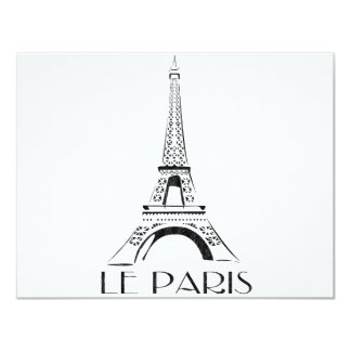 vintage le paris card