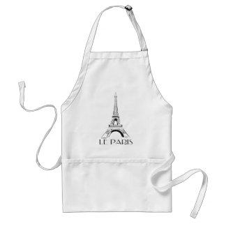 vintage le paris eiffel tower adult apron