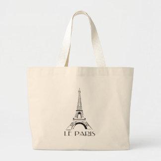 vintage le paris large tote bag