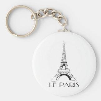 vintage le París Llavero