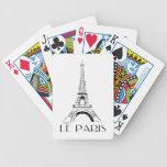 Vintage Le París - naipes de la bicicleta de París Baraja Cartas De Poker