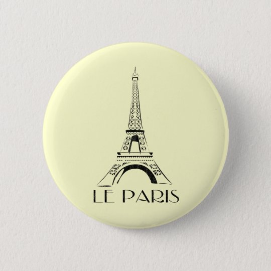 vintage le paris pinback button