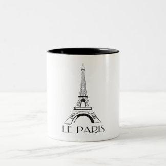 vintage le paris Two-Tone coffee mug